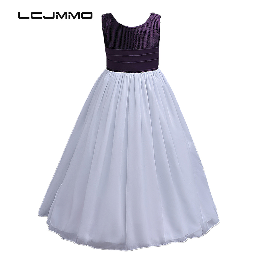 LCJMMO High Quality Chiffon Girl Dress Kids Wedding Bridesmaid Children Dresses Summer 2017 Party Princess Costume Girls Clothes цена и фото