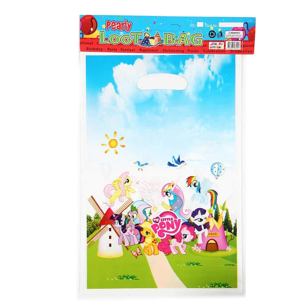 10PCS Wholesale My Little Pony Theme Gift Bag Party Decorations Baby Happy Birthday Wedding Event
