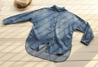 Spring Autumn Women Loose Plus Size Boyfriend Style Denim Shirts