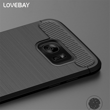 Shockproof Phone Case For Samsung Galaxy S6 S6 Edge S7 S7 Edge S8 S8 Plus Carbon Fiber TPU Drawing Material Phone Cases Cover