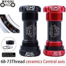 все цены на MUQZI Ceramic Bearing Bottom Bracket Parts BB68-73 Central axis ceramics Thread formula for Shimano SRAM crankset MTB Road bike онлайн