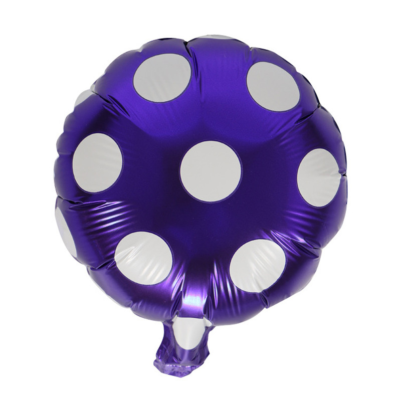 10 inches Foil Balloons wedding events Birthday party decorations kids birthday balloons Dot air ballons festive party supplies