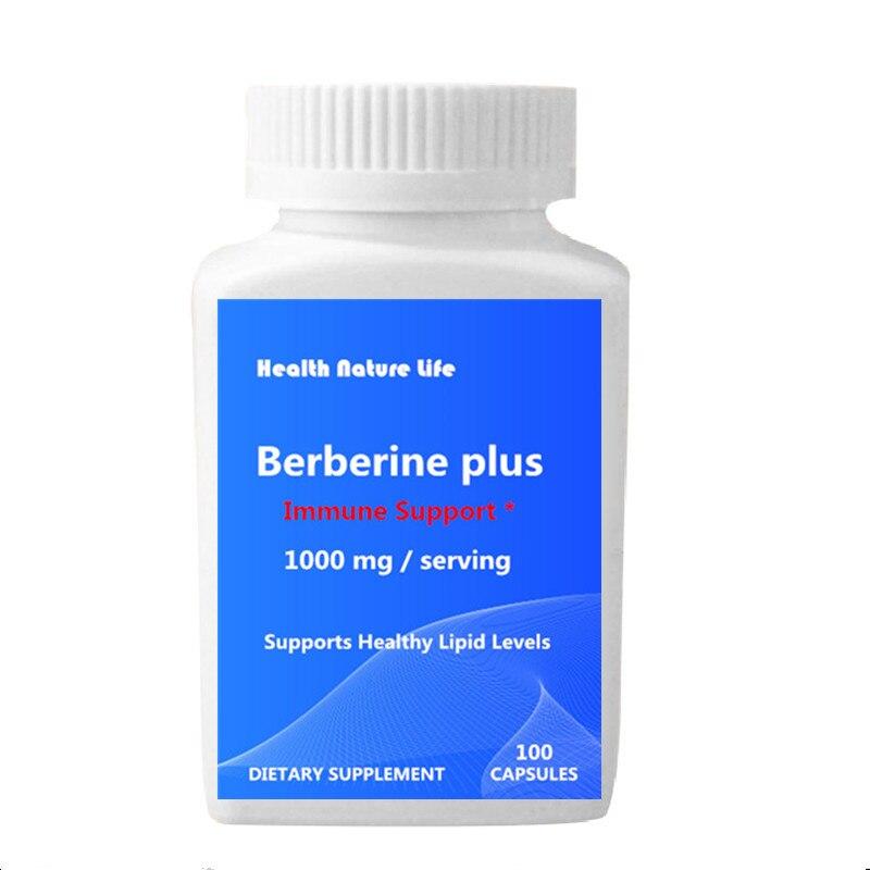 Berberine Plus 1000 Mg 100 Pcs - Contain Vitamin C - Zinc - Supports Healthy Immune System