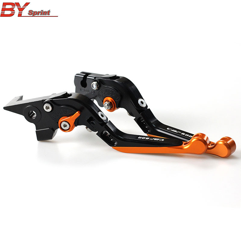 Logo(CBF600)CNC Adjustable Folding Extendable Motorcycle Brake Clutch Levers For <font><b>Honda</b></font> <font><b>CBF</b></font> <font><b>600</b></font> SA <font><b>CBF</b></font> <font><b>600</b></font> 2004 2005 <font><b>2006</b></font> 2007 image
