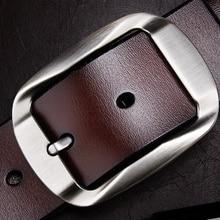 7501533b623e Baieku mode Casual hommes de ceinture Simple style de ceinture en cuir De  Haute qualité jeans pour Hommes ceintures 105-125 cm