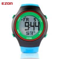 EZON Marka Moda Erkekler Spor Saatler Elektronik Dijital İzle 30 M Su Geçirmez Açık Elbise Kol Saatleri Kronometre Alarm