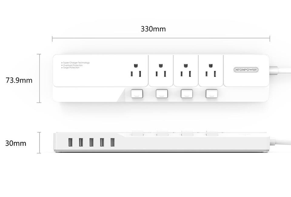 NTONPOWER NSJ US Plug Power Strip (7)