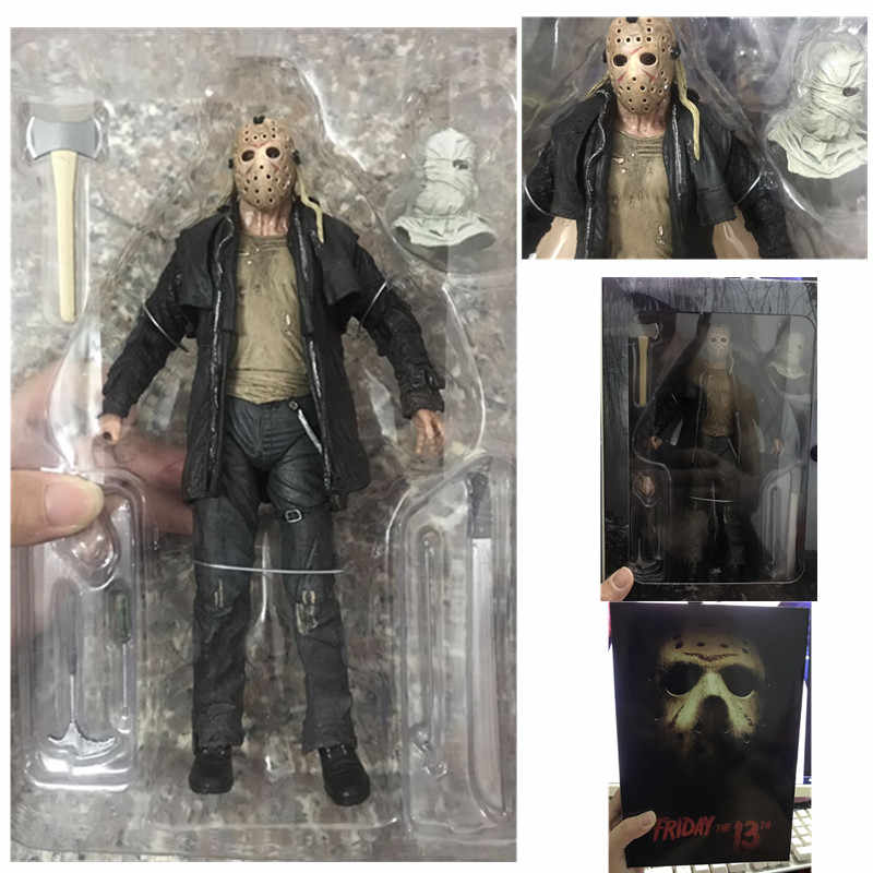 HTO NIEUWE NECA 2009 JASON Friday The 13th Remake Voorhees Deluxe Edition Ultieme PVC Action Figures Collection Model Toy Gift