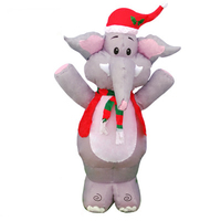 120cm 47inch Elephant Giant Inflatable Toys LED Lighted Yard Cartoon Blow Up Decoration Christmas Halloween Winter