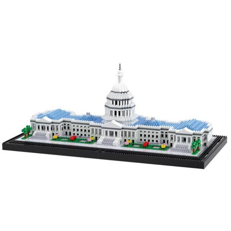 MINI Architecture bâtiment Du Congrès Blocs de Construction Kit Briques Classique Ville Capitol Modèle Enfants Jouets Cadeau Incompatible Legoings
