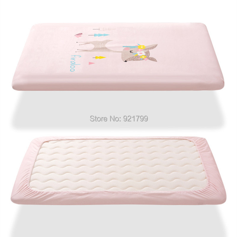 100% Katoen Wieg Hoeslaken Zachte Baby Bed Matras Cover Protector Cartoon Sika Herten Pasgeboren Beddengoed Voor Ledikant Maat 120*65 Cm Tegen Elke Prijs