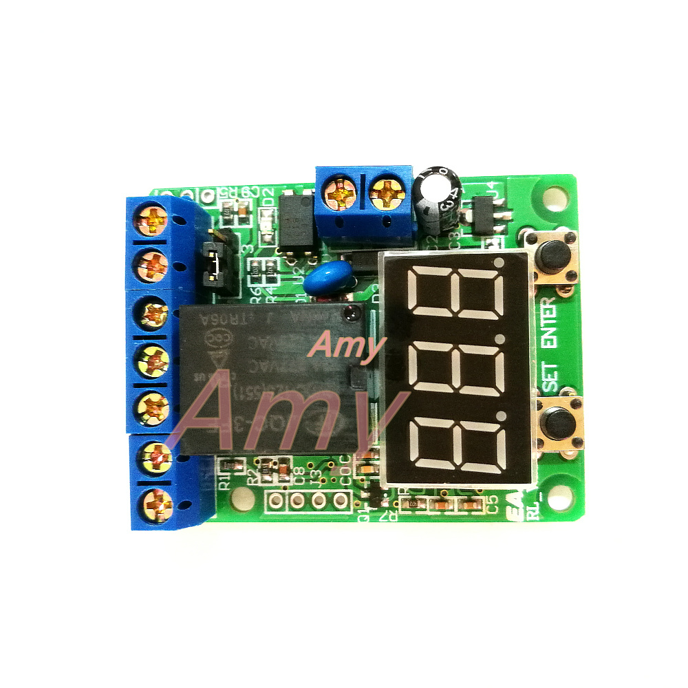Free Shipping Voltage Detection Control Timer Delay Switch Relay Over Voltage Overrun Protection Board Battery Discharge