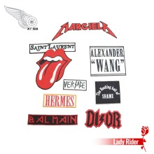 New Mixed 9pcs Lots Appliques DIY Punk Embroidered Iron On Patch for Jackets Vest Jeans Rock and Roll Music Free Shipping