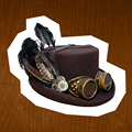 Steampunk Hat /  Steam Punk Consume/  Victorian Wool Fedoras Feather Millinery Goggles Top Hat Mad Hatter  Cosplay Women