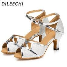 Dileechi Latino Danza en mujeres adultas con interior suave Fondo zapatos  de baile de primavera y e78373ef4429