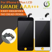 10 Unids/lote Compras Libres 100% Pixel NO Muertos de Calidad AAA Para el iphone 6 Más Pantalla LCD de Pantalla Táctil Digitalizador Asamblea