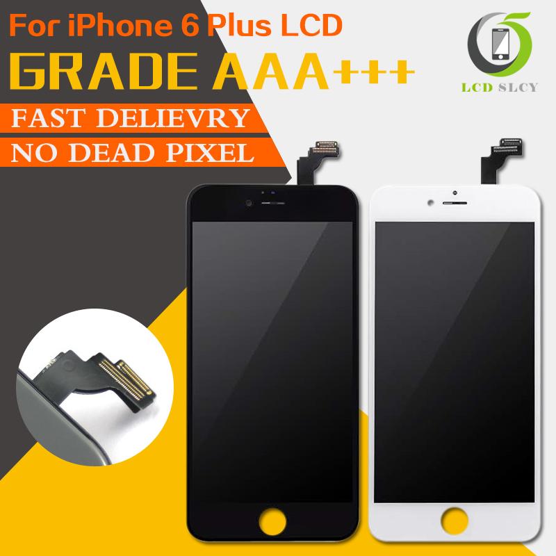 Prix pour Free Shopping DHL 5 pcs/lot 100% PAS de Dead Pixel Qualité AAA Pour iPhone 6 PLUS LCD Affichage à L'écran Tactile Digitizer Assemblée