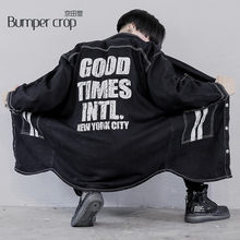 genuine bumpercrop work demin men's fashion korean style bomber warm jeans jackets new york clothing Letter Moto Biker boy new(China)