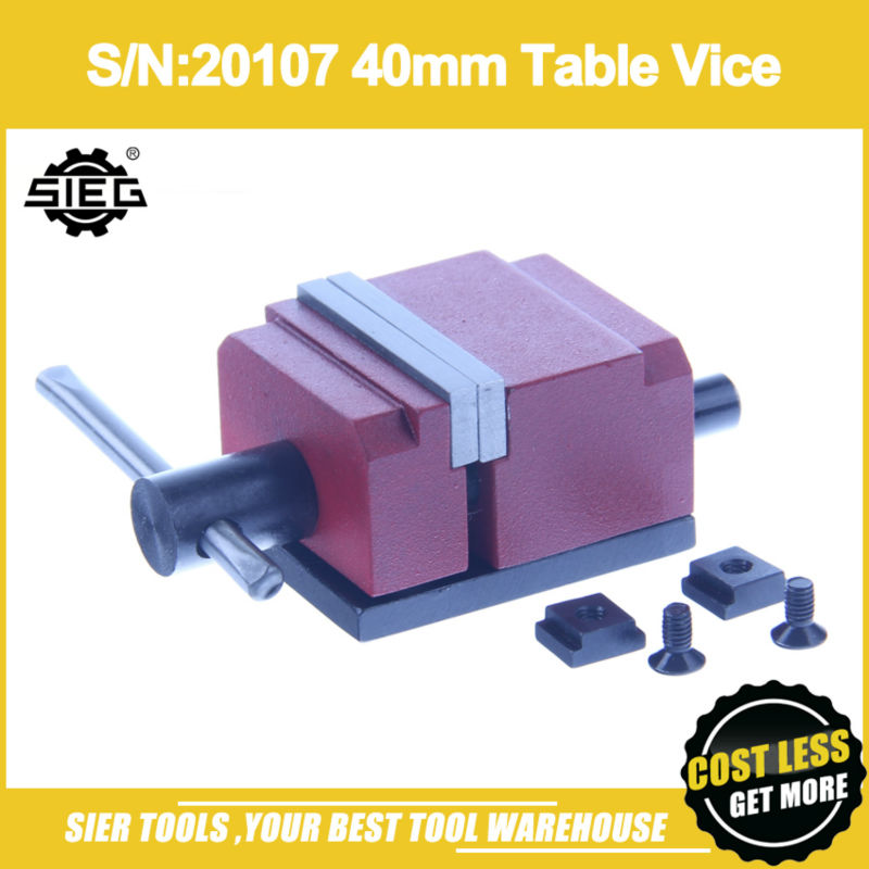 Free Shipping S N 20107 40mm Table Vice SIEG N1 bench vise