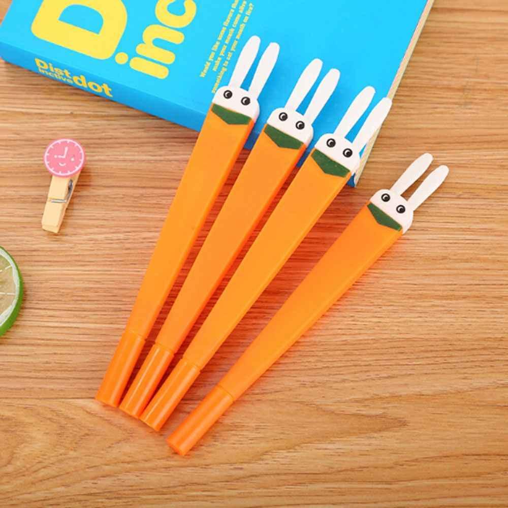 1 шт. 0,5 мм мультфильм милый кролик заяц морковка, кролик гелевая ручка подпись ручка инструменты для письма школьные офисные поставки Рождественский подарок для детей Лидер продаж