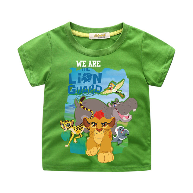 Niños dibujos animados El Rey León Simba impresión Tee Tops niño verano Camiseta corta ropa niñas camiseta ropa para niños WJ057