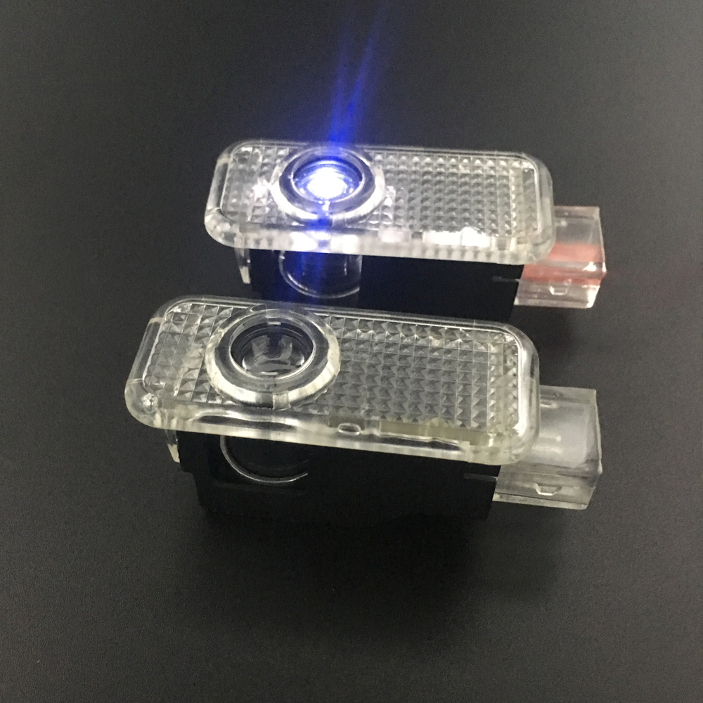 2pcs LED Car Door Welcome Light For Volkswagen VW Phaeton Passat Auto Courtesy Ghost Projector LOGO Light 12V Car-styling