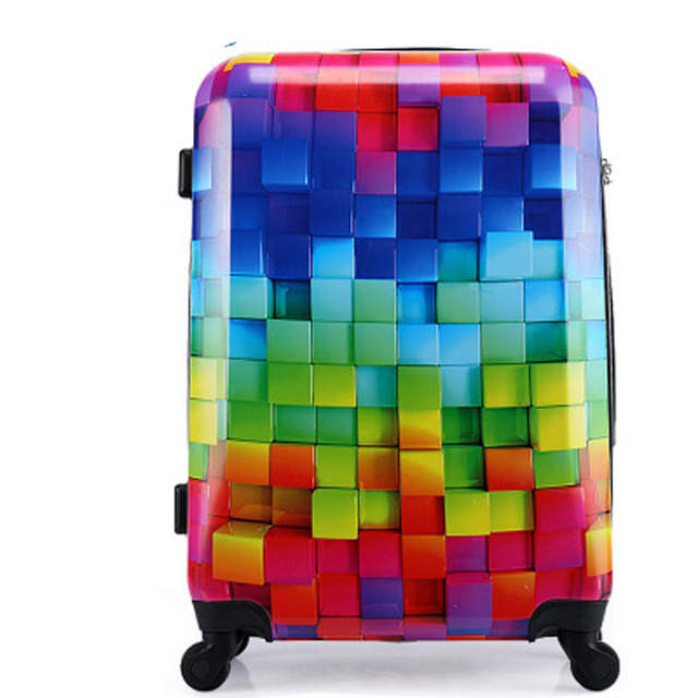 """20 """"24"""" 28 дюймов мода для багажа чемодан ABS + PC мужские и женские общие прокатки spinner колеса камера"""