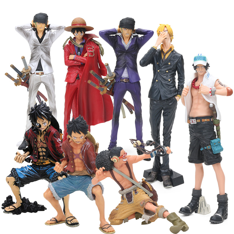 Us 10 53 24 Off 25cm One Piece Figure King Of Artist Monkey D Luffy Usopp Portgas D Ace The Roronoa Zoro Pvc Action Figure Model Collection Toy In