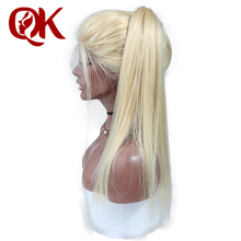 QueenKing Hair Brazilian 26″ Full Lace Wig 150% Density 613 blonde Remy hair Can be dyed to any color wigs for women
