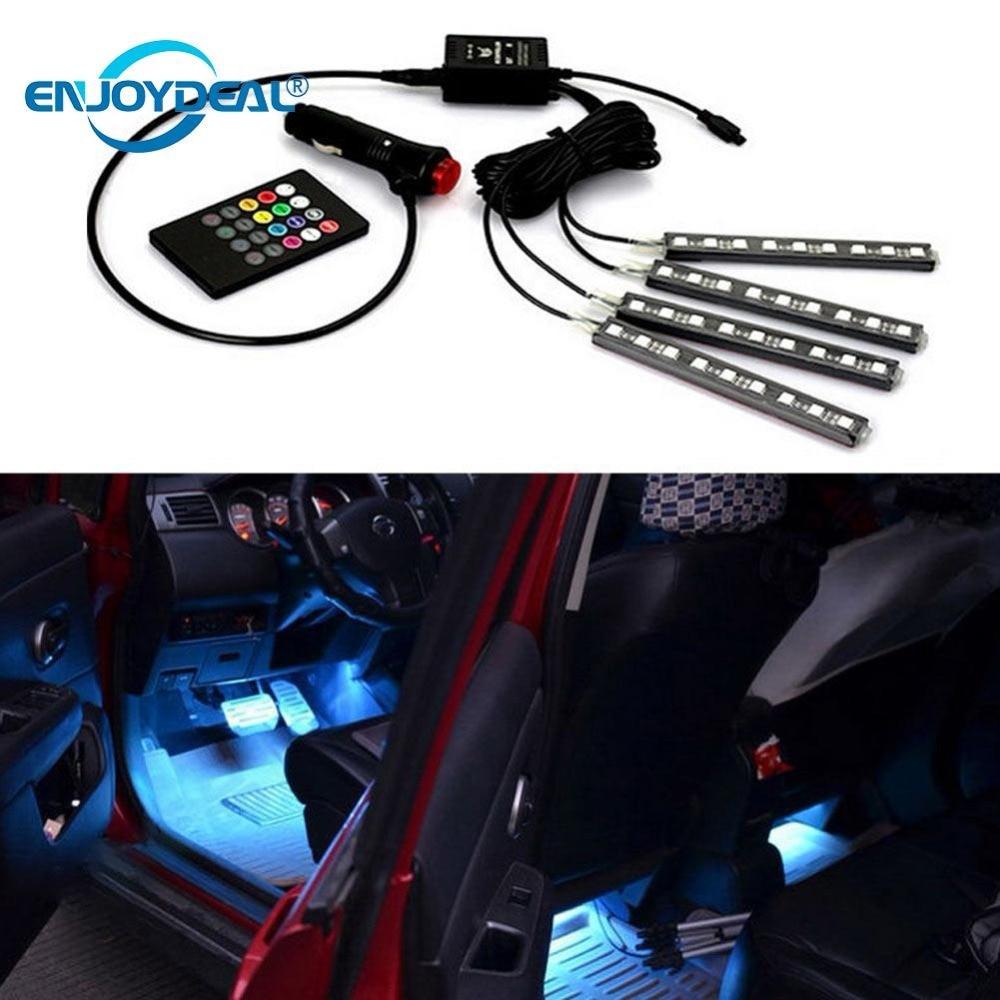 Buy 6w 12v 9 led strip light set rgb car - Automotive interior led light strips ...