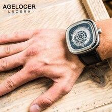 Agelocer Watch Mens Sport Top Swiss Brand Watches Original Business Mechanical Watch Men Wristwatch for Summer