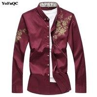 YoFaQC 2017New Fashion Autumn Winter Men Shirt Long Sleeve Camisa Masculina Quality Chinese Style Men S