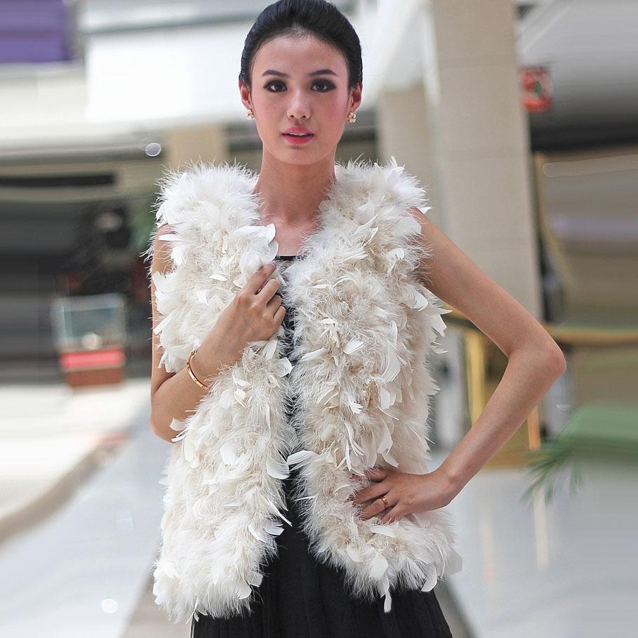 plume de luxe de marie de fourrure bolero 2016 hiver shrug long manteau de mariage veste - Bolero Plume Mariage