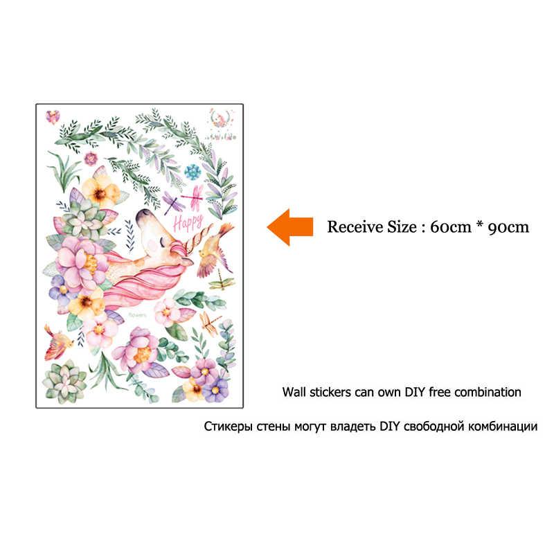 رومانسية الحصان الجدار ملصق زهرة صور مطبوعة للحوائط غرفة نوم غرفة المعيشة أريكة خلفية ديكور فني للمنزل المشارك جدارية ملصقات