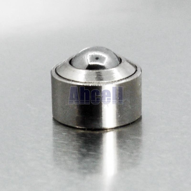 все цены на Mini 10mm bearing steel ball KSM-10 Swivel Round Ball Caster Roller Silver Metal Bull Wheel Universal Solid Transfer Ball Unit онлайн