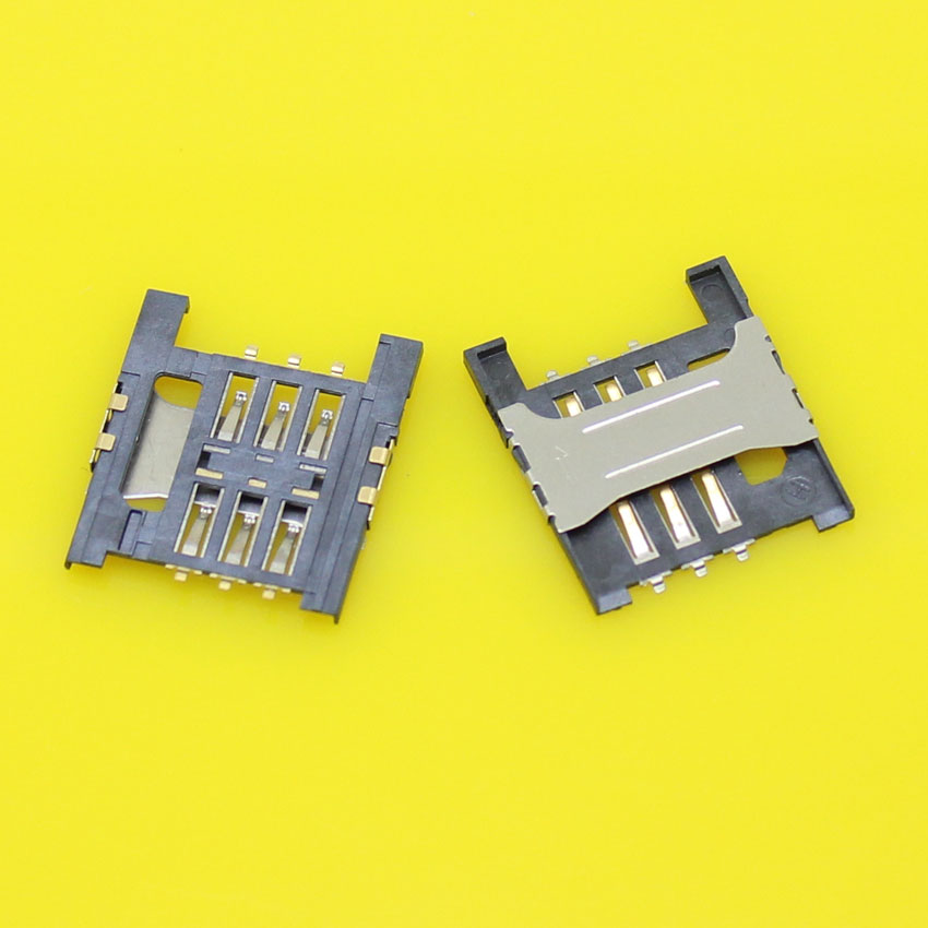 2pieces/lot Brand New sim card socket tray slot connector replacement for Lenovo A788T A568t K860I A3000-H A5000.