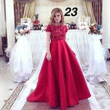 Красные Выпускные платья с коротким рукавом кружевные аппликации