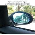 Direita/esquerda Porta Lateral Asa Espelho De Vidro com Função Aquecida para BMW 318 E90 320i 325i 330i 2004-2007