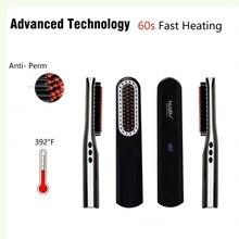 Beard Brush Straightener Hair Straighten Straightening Comb Multifunctional Hair Comb Electric Curling Brush Quick Hair Styler
