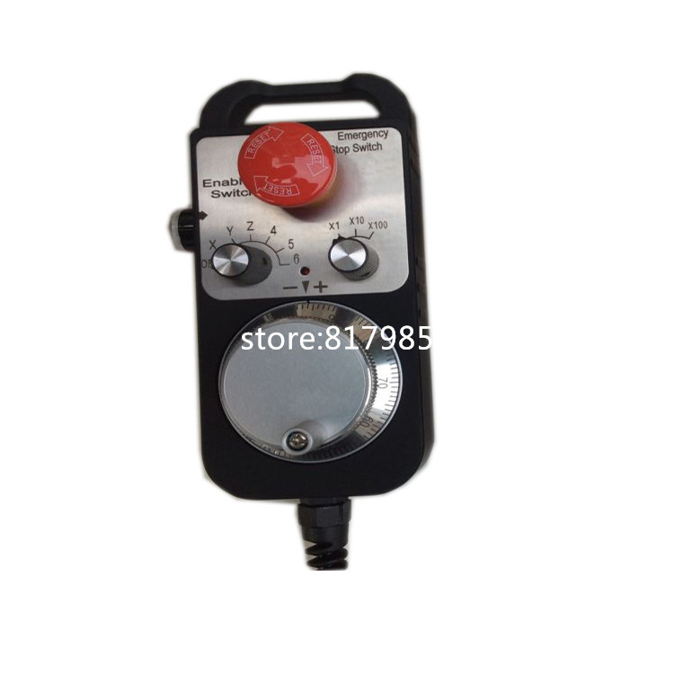6 Axis Electronic Handwheel Manual Pulse Generator CNC 5V 12V 24V Pulser Engraving Machine Controller handheld pulse generator