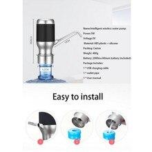 Portable Outdoor Wireless Elektrische Automatische Wasser Flasche Pumpe Smart Dispenser mit Akku Trinkwasser Saug
