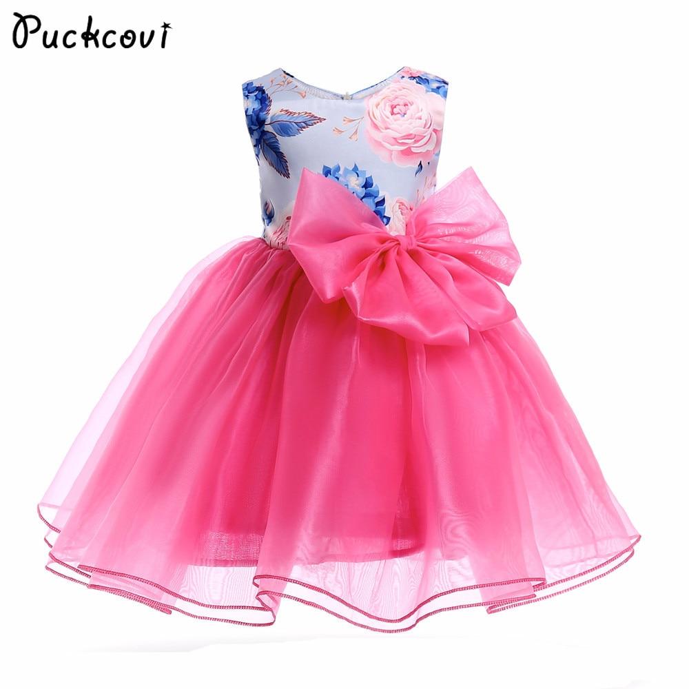 Grils Tutu dress Vestidos Princess Wedding Dress for girl 2018 Summer Kids clothes Jurken Vestidos Children Fashion onepiece
