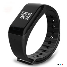 купить Fitness Tracker F1 Sleep Tracker Smart Bracelet Heart Rate Monitor Waterproof Smart Watch Activity Tracker for iPhone по цене 764.92 рублей