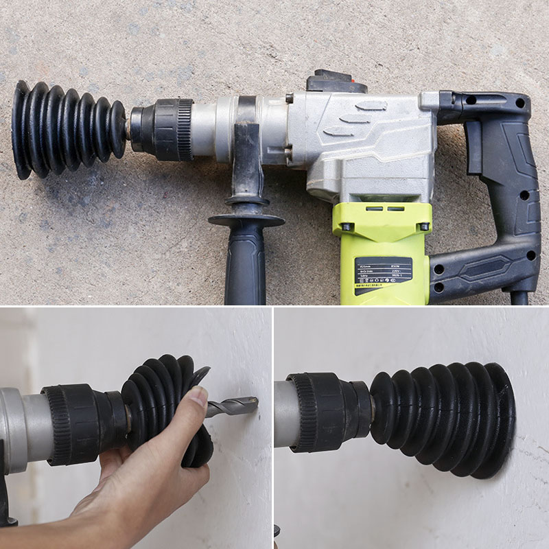 Drill Dust Collector Rubber Dust Cover Electric Hammer Drill Dust Cover Electric Drill Power Tool Accessories Dremel Accessories