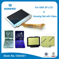 For Gameboy Advance SP for GBA SP LCD Screen Digitizer Backlit Brighter AGS-101 + Console Housing Case Shell full Set with Glass
