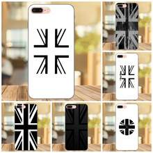 TPU Mobile Case For Apple iPhone 4 4S 5 5S SE 6 6S 7 8 Plus X XS Max XR Union Jack Black & White Flag(China)