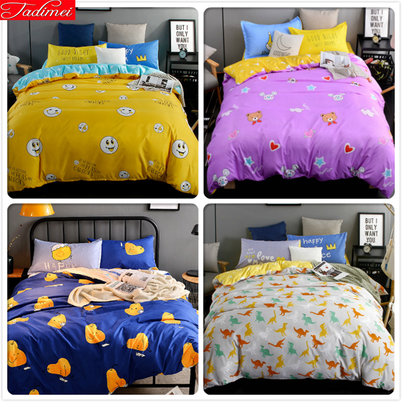 Power Source Child Kids 3/4 Pcs Bedding Set 1.5m 1.8m 2.0m 2.2m Flat Sheet Bed Linens King Queen Twin Double Size Quilt Duvet Cover Bedlinens Comfortable And Easy To Wear