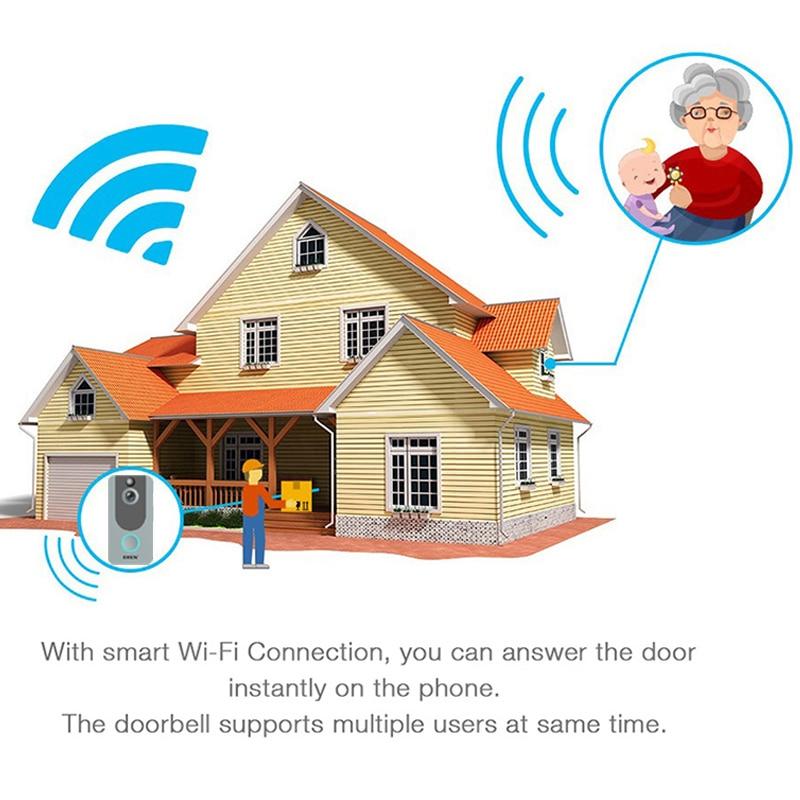 Doorbell Eken V7 Door Bell Camera 1080p Wifi Doorbell Ip Smart Wireless Security Fir Motion Detection Alarm Cloud Storage House Bell Door Intercom