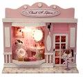 Casa de boneca Em Miniatura Mini Diy Casa De Bonecas De Madeira Feitos À Mão Modelo Kits de Construção de Brinquedo de Presente de Aniversário lojas Européias-Cherish Uma Vida