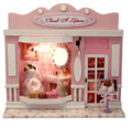 Doll house Miniature Mini Diy Handmade Wooden Dollhouse Model Building Kits Toy Birthday Gift European stores-Cherish A Lifetime